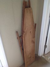 Antique wooden ironing board in Yucca Valley, California