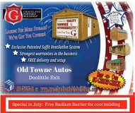Graceland Portable Buildings available at Old Towne Autos in Doolittle in Rolla, Missouri