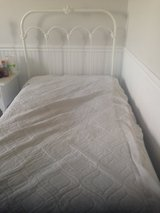 Wesley Allen Iron Bed - White/Twin size in Naperville, Illinois