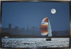 "Oil Painting, original, ""The Sail at California Bay at Full Moon"" in Fort Rucker, Alabama"