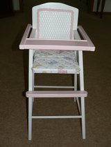 Wicker Backed Doll High Chair in Lockport, Illinois