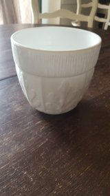 Milk glass planter in Joliet, Illinois