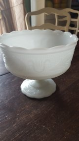 Milk glass bowl in Joliet, Illinois