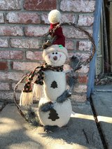 Snowman decor in Travis AFB, California