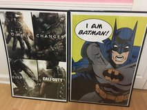 Batman and call of duty posters in Byron, Georgia