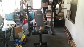 workout bench & weights in Leesville, Louisiana