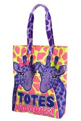 Justice Totes Adorbs Sparkle Giraffe Tote Bag Beach Pool Pink Purple Yellow in Kingwood, Texas