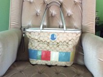 Genuine signature Coach purse/tote , gently used,cloth bag included in Lockport, Illinois