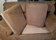 Suede Loveseat-PICKUP ONLY in Fort Carson, Colorado