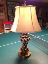 Antique Table Lamp w/Dolphins on the base in Naperville, Illinois
