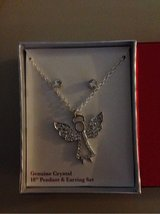 Crystal Angel Necklace and Earring Set in Plainfield, Illinois