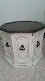 Vintage octagon side table in Fort Polk, Louisiana