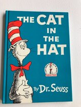 Vintage 1985 Dr Seuss The Cat In The Hat Hard Cover Book in Morris, Illinois