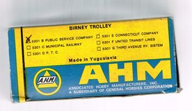 HO Scale A.H.M. Birney Trolley Painted as Public Service # 70 in Joliet, Illinois