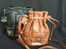 Soft genuine  leather drawstring purse with multiple pockets in Yucca Valley, California