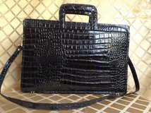 """Vintage by""""VIVACE """"  Messenger Bag  genuine croc. embossed patent leather in Yucca Valley, California"""