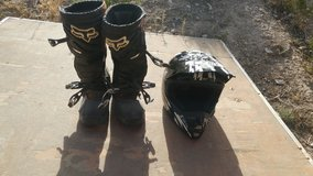Dirt Bike Boots and Helmet in Alamogordo, New Mexico