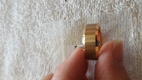 Mens tungsten rose gold ring size 7 new in Yorkville, Illinois