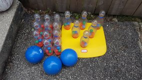 Little tikes bowling set with extras in Aurora, Illinois