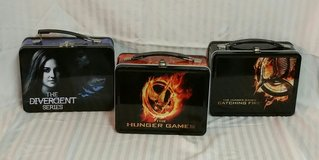 LOT OF 3 HUNGER GAMES/DIVERGENT ~ COLLECTIBLE TINS in Fort Benning, Georgia