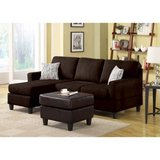 Vogue Microfiber Reversible Chaise Sectional Sofa (Chocolate) - DISPLAY MODEL! in Joliet, Illinois