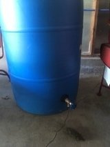 Rain barrel with spout in Fort Knox, Kentucky