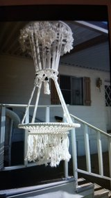 Macrame table in Yucca Valley, California