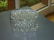 diamond cut crystal box w/lid in Oswego, Illinois