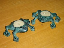 metal frog tealight holders in St. Charles, Illinois