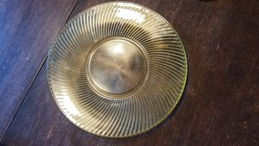 Gold depression glass plate in Plainfield, Illinois