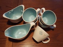 coffee sugar bowl,creamer,&5 cups in Plainfield, Illinois