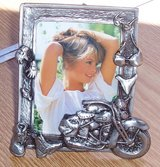 NEW ~ Pewter 6x4 PHOTO FRAME ~ Motorcycle Theme in Alamogordo, New Mexico