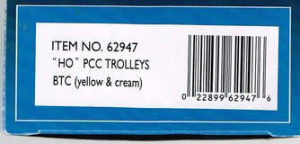 HO Scale Bachmann PCC Trolley painted as BTC (yellow & cream) in Joliet, Illinois