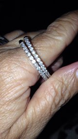 beautiful white Gold with diamonds hoops. in Fort Campbell, Kentucky