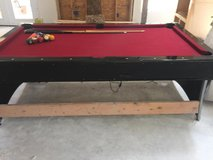 Pool table and air hockey table all in one in Camp Lejeune, North Carolina