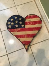 Stars n stripes Metal Hanging Heart in The Woodlands, Texas