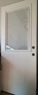 WHITE DOOR/BUILT-IN BLINDS in Oswego, Illinois
