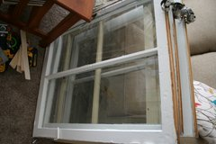"Old wood windows 32"" wide and 27"" high in Beaufort, South Carolina"