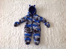 New with tag the Children's Place Baby Boy Zip Bear Bunting/Snowsuit Hooded/Mittens, 3-6 m in Schaumburg, Illinois