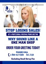 Stop Losing Sales! Get  A Professional Voicemail Phone Greeting 7 days Free trial  support in 29 Palms, California