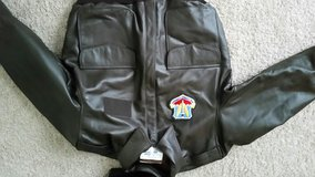 men's A2 authentic USAF bomber leather flight jacket new in Fort Bragg, North Carolina