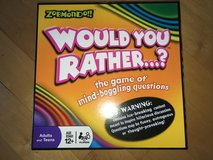 Would You Rather? Board Game by Zobmondo!! Brand New!! in Plainfield, Illinois