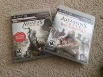 PS3 Set of 2 Assassins Creed Games in Naperville, Illinois
