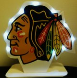 New Chicago Blackhawks Homemade light-up display piece by local artist in Chicago, Illinois