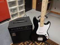 Fender Squire Base Guitar and Ampeg Amp 20 W125.00 in Oswego, Illinois