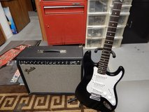Fender Squire Guitar & Fender Stage 100 Amp With Pedal $225.00 in Aurora, Illinois