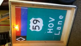 old 59 sign in Pearland, Texas