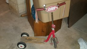 radio flyer scooter with wooden foot board in Oswego, Illinois