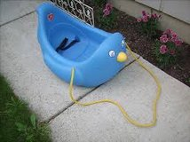 step 2 toddler penguin sled rare in Naperville, Illinois