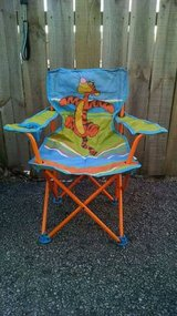 Winnie the pooh folding chair with storage bag in Yorkville, Illinois